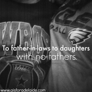 To father-in-laws to daughters wihoutt fathers. #anopenlettter #family #love