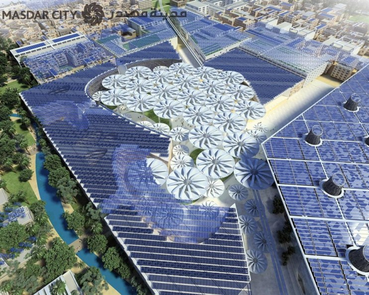 A cleantech test case for sustainable urban living. Credit: masdar.ae