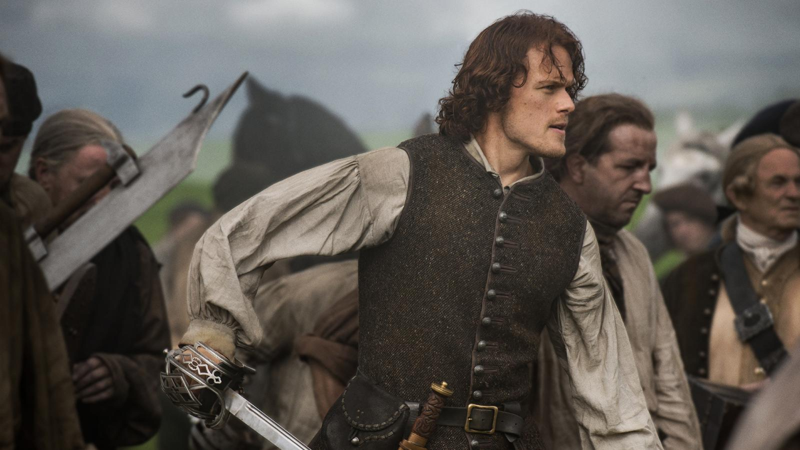 Music Mg Wallpaper Hd Outlander Sam Heughan Spielt Jamie Fraser