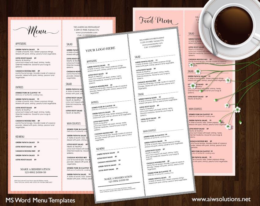Design  Templates, Menu Templates ,Wedding Menu , Food Menu ,bar