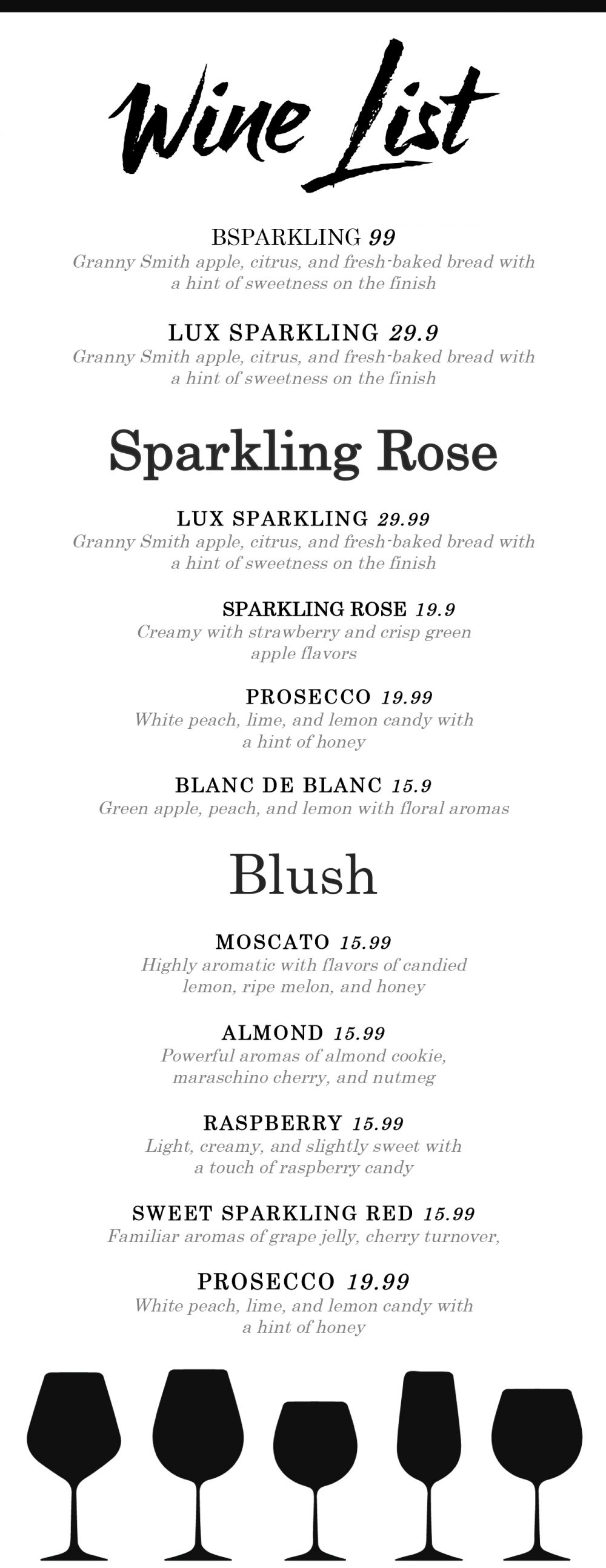 free menus templates
