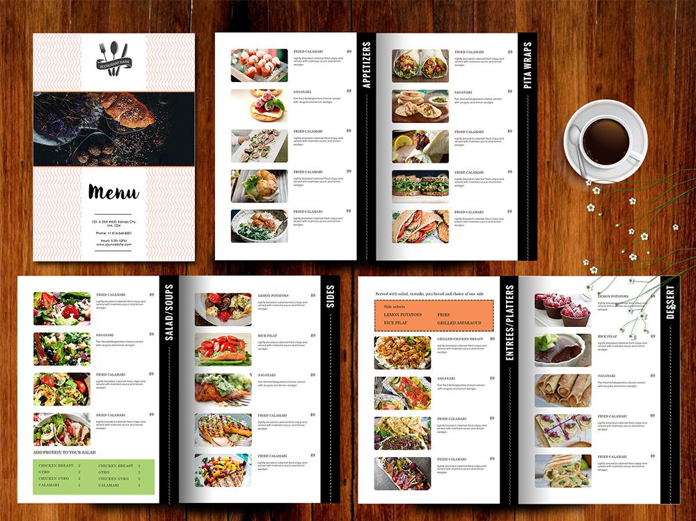 Design  Templates, Menu Templates ,Wedding Menu , Food Menu ,bar - take out menu template microsoft word