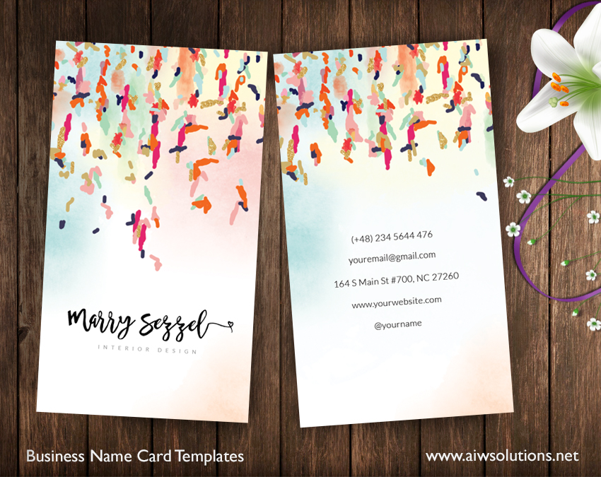 Premade Business Card Template, Name Card Template, Photography - name card