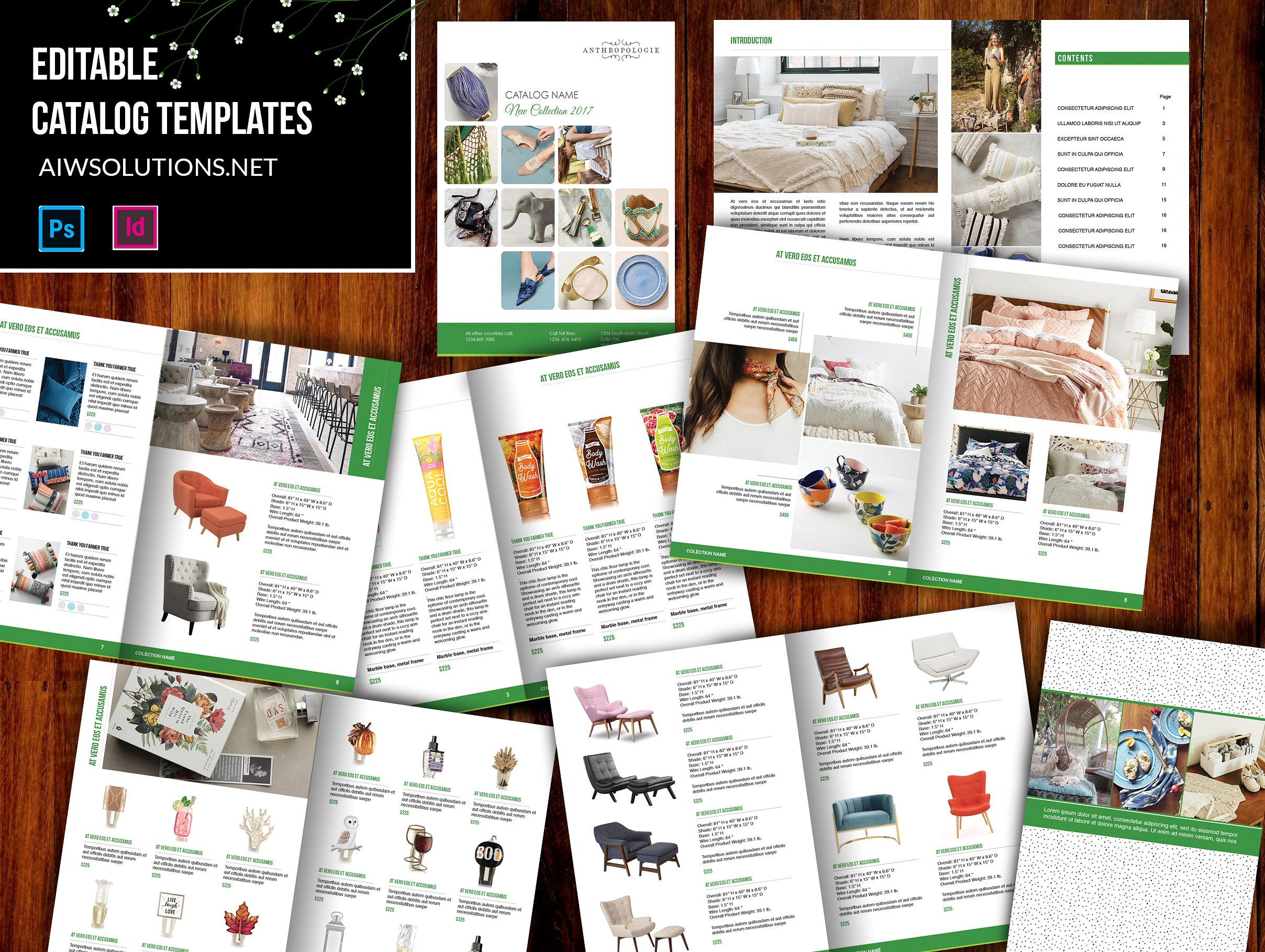 product catalogue templates