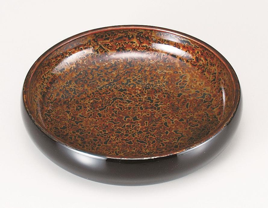 会津金虫喰塗 菓子鉢7.0