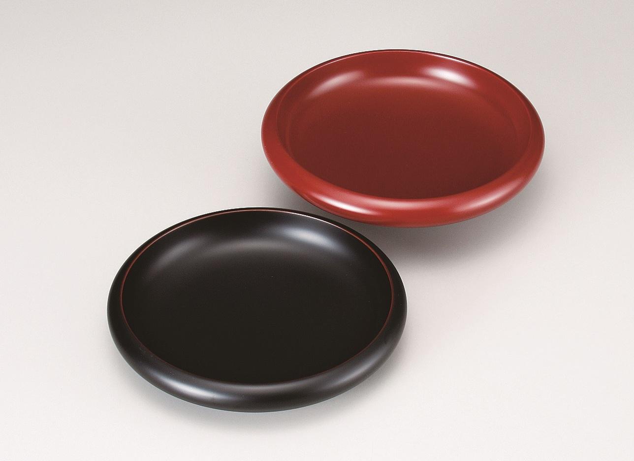 会津漆器 8.0平鉢