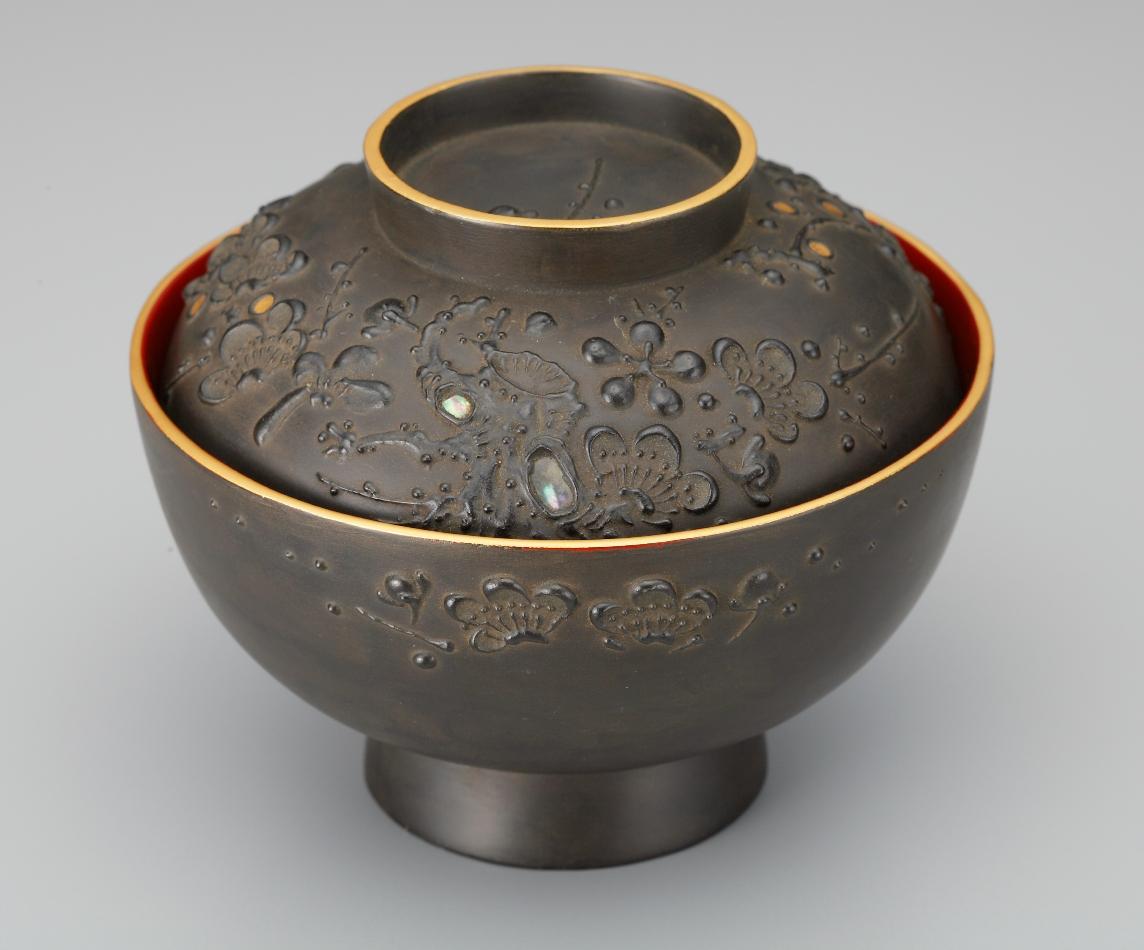 会津塗 鉄錆吸い物椀