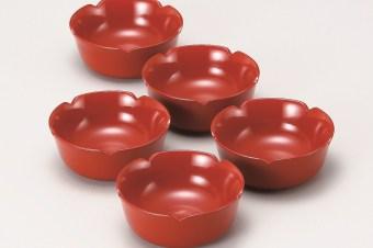 会津塗 梅型小鉢