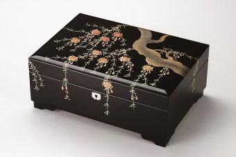 会津塗 2段宝石箱しだれ桜