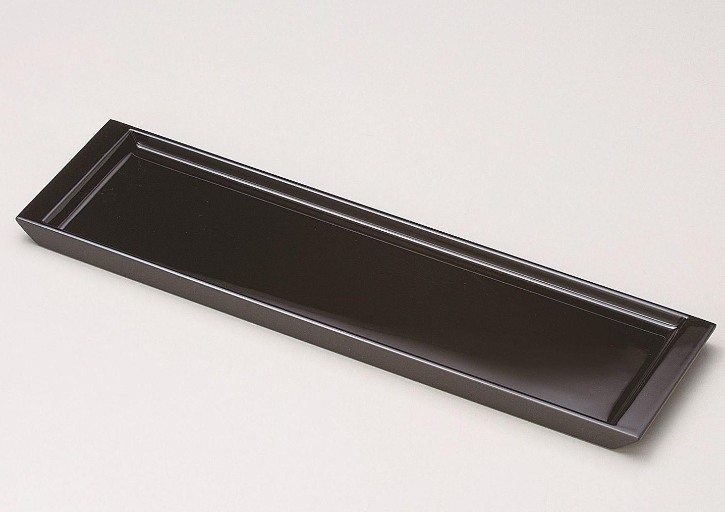 会津塗 長角トレー39cm 黒