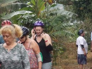 Blue Mountain cyclists leave coffee plantations during Bicycle Tour
