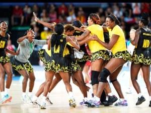 """Jamaica's Netball Team """"Sunshine Girls"""""""