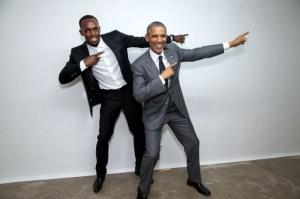 President Obama and Usain Bolt