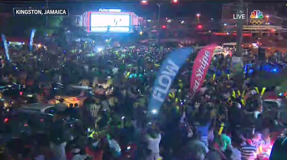Jamaicans Celebrated Olympics Victory