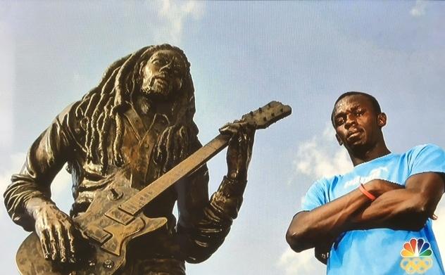 Usain Bolt and Bob Marley