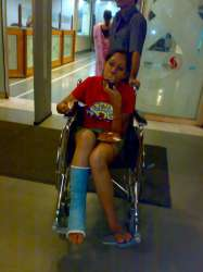 Nammy in the wheel chair
