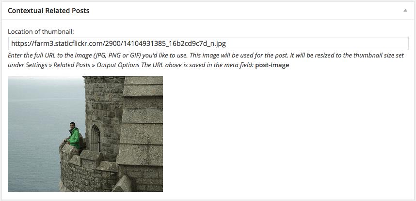Contextual Related Posts meta box