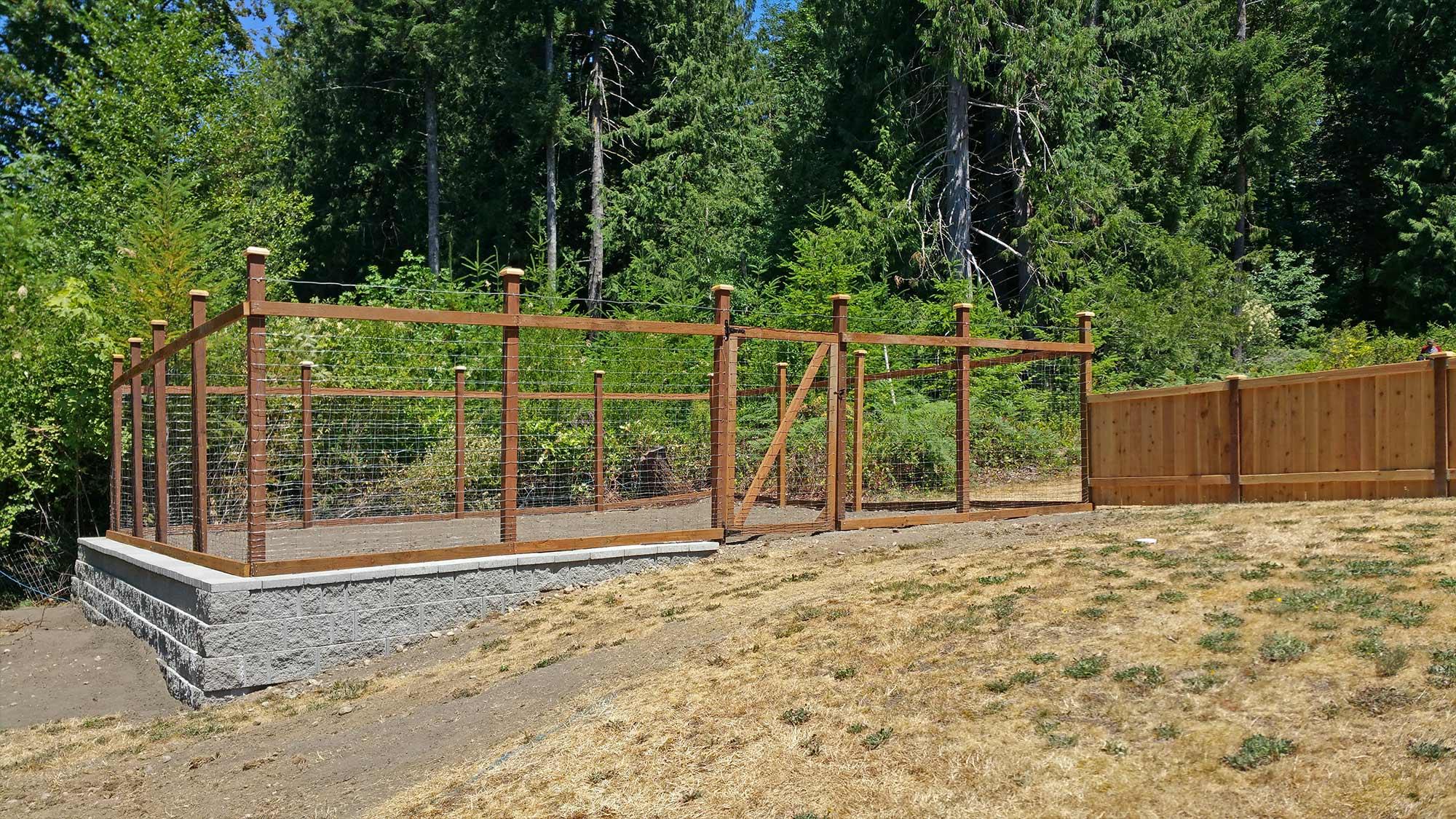 garden fence ideas deer