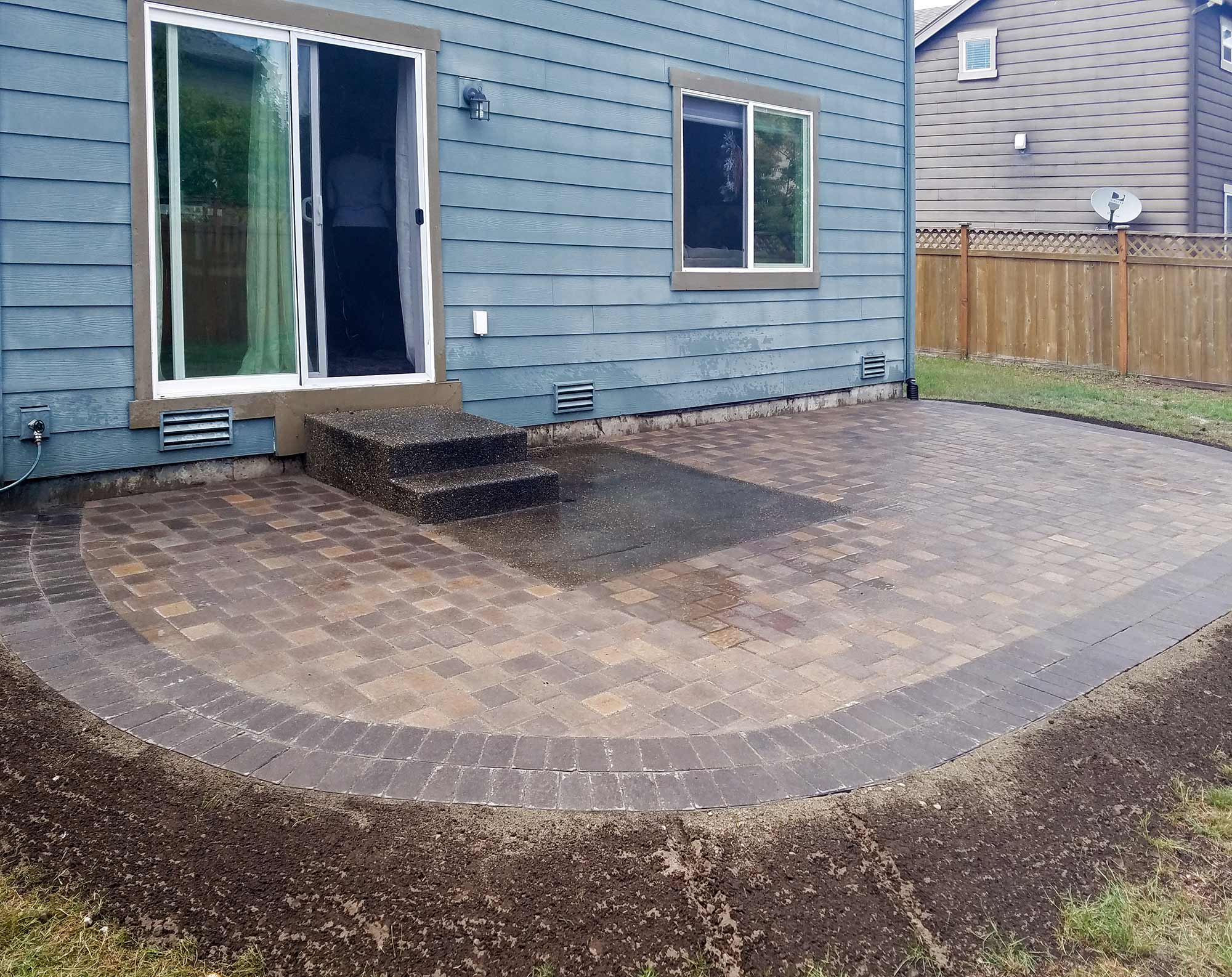 Lacey Paver Patio Extension Ajb Landscaping Fence