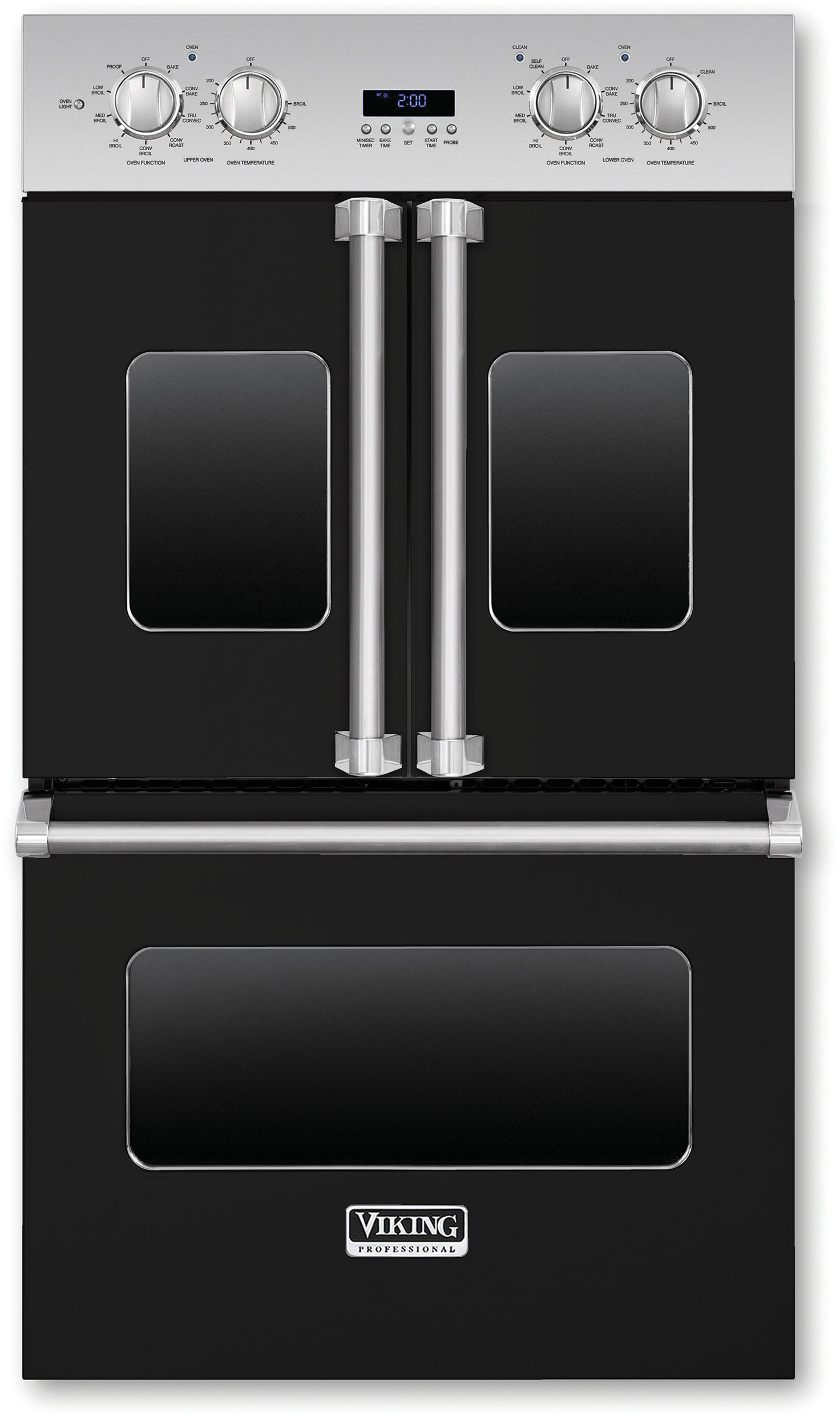 30 Wall Ovens Viking Professional Premiere Series 30 Inch Double Electric French Door Oven