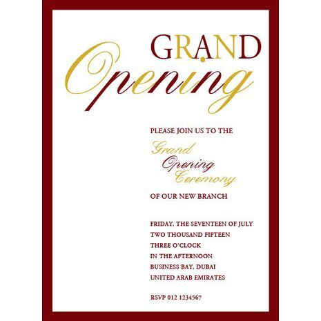 Invitation Letter For Inauguration Of New Building - Premium Invitation Template Design | Bliss ...