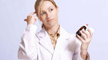 confused looking nurse or pharmacist
