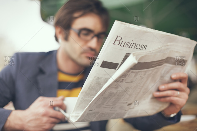 newspaper sections stock photos - OFFSET