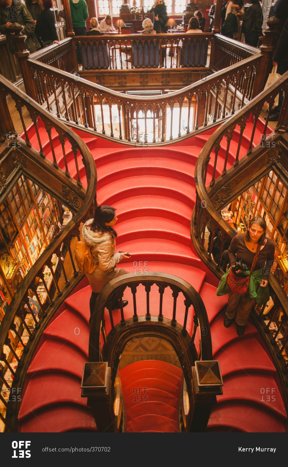 Librería Lello E Irmao Porto Portugal October 29 2015 Staircase In The