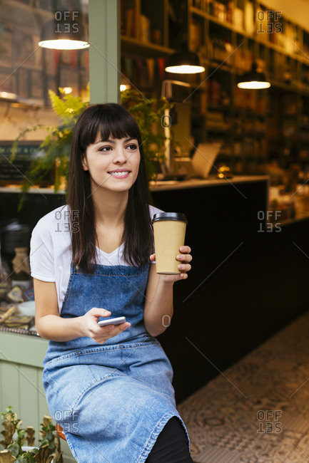coffee shop assistant stock photos - OFFSET
