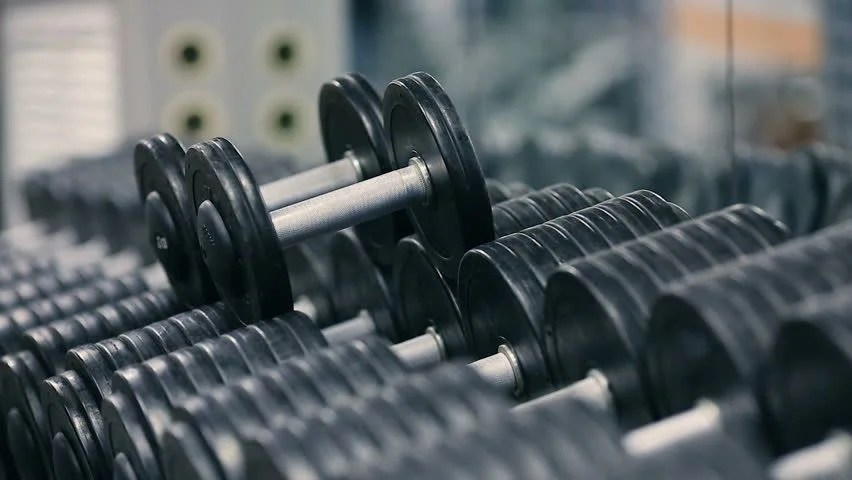 Gym Workout Girl Wallpaper Dumbbell Footage Stock Clips