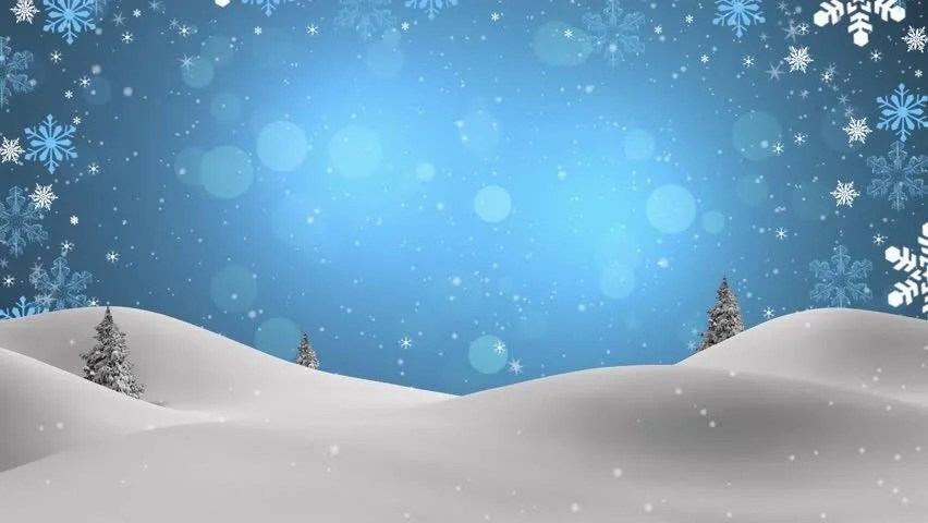 Animated Snow Falling Wallpaper Free Download Cartoon Christmas Snow Scene Looping Background Pan Stock