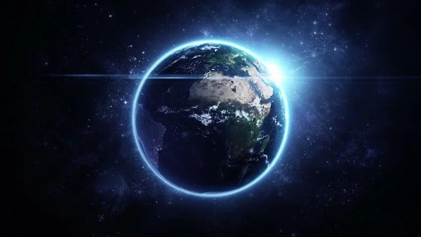 Microsoft Animated Wallpaper Animation Rotation Of Glowing Globe Stock Footage Video