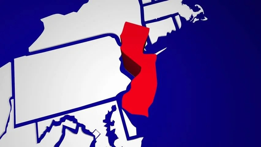 New Jersey Nj Animated State Stock Footage Video (100 Royalty-free