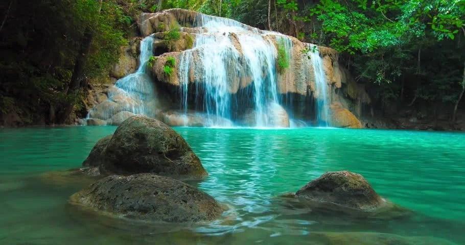 Calming Fall Wallpaper Hd Idyllic Waterfall And Amazing Nature Sunlight And Wild