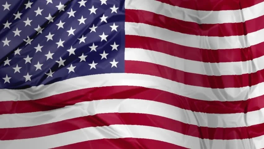3d Waving American Flag Background Stock Footage Video (100 Royalty