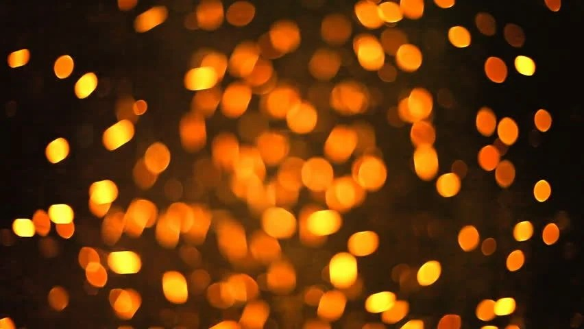 Falling Gold Sparkles Wallpaper Particles Dots Glitter Loop Motion Background Stock