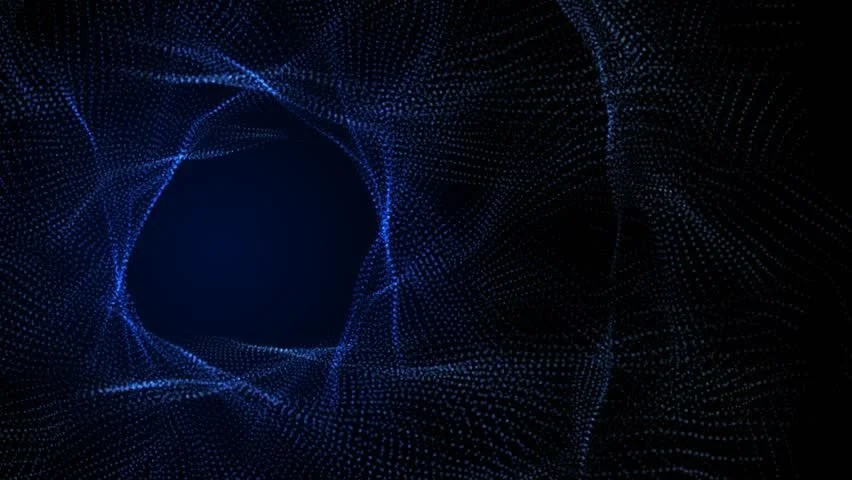 Blue Spiral Particles Morph and Stock Footage Video (100 Royalty
