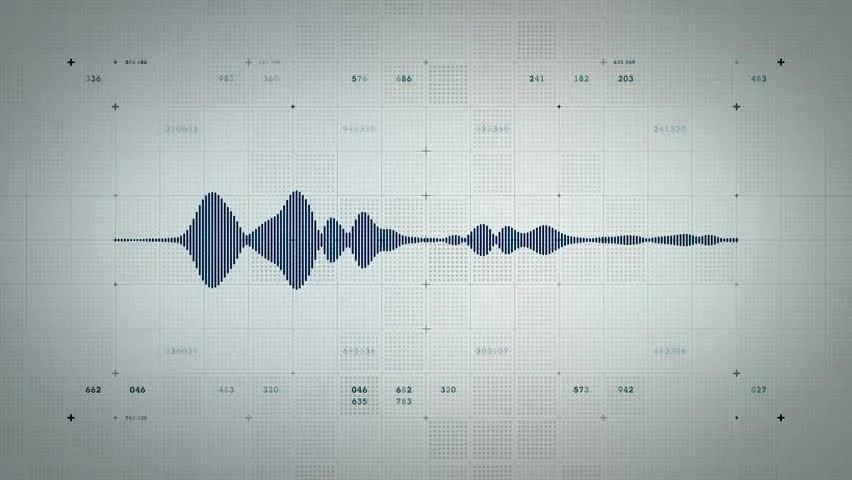 Stock video of 4k audio waveform mono blue lite 19311730