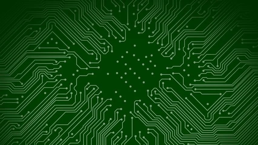 A Green Circuit Board with Stock Footage Video (100 Royalty-free