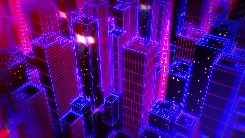 3d Motion Wallpapers For Desktop Free Download Stock Video Clip Of Retrofuturistic Cityscape Seamless