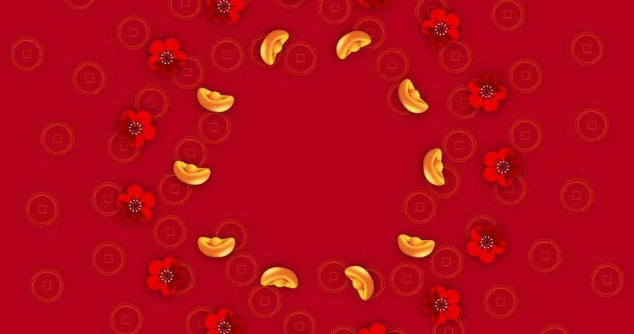 4k00204K Loop Chinese New Year Background Happy New Year