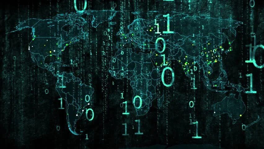 3d Moving Wallpaper Hd For Pc Hacker War Super Modern Digital Data Hacking World Map