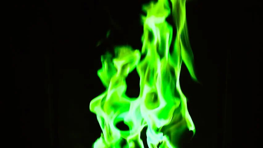 Fireplace 3d Wallpaper Green Flames Background Hd 1920x1080 Stock Footage Video