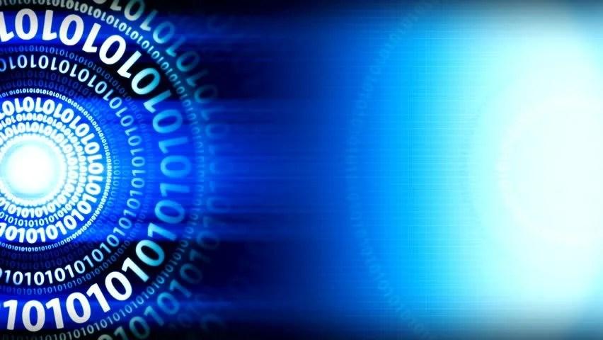 Digital Code Binary Computer Background Stock Footage Video (100