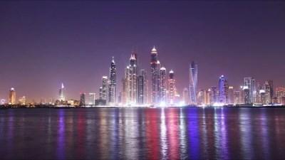 Dubai Night Timelapse Made From Palm Jumeirah Stock Footage Video 5870333 | Shutterstock