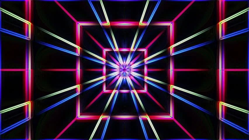 Animated 3d Wallpaper Gifs Looping Neon Lights Geometric Tunnel Loop 1080p After Effects