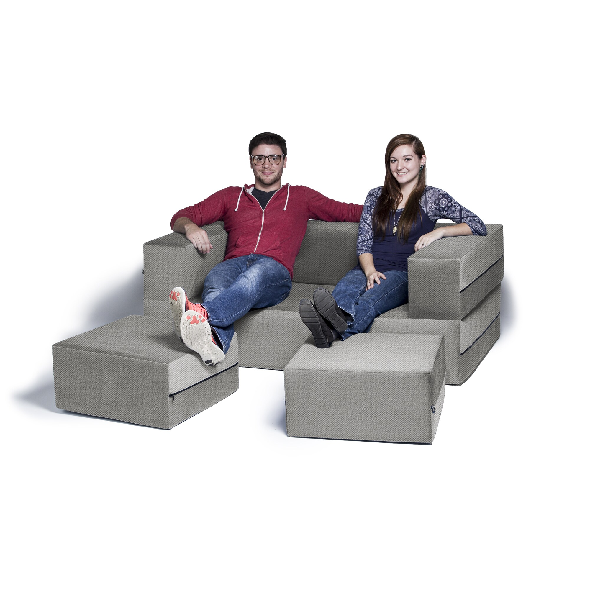 Queen Sofa Bed Ottoman Jaxx Zipline Convertible Queen Size Sleeper Loveseat And Ottoman Set