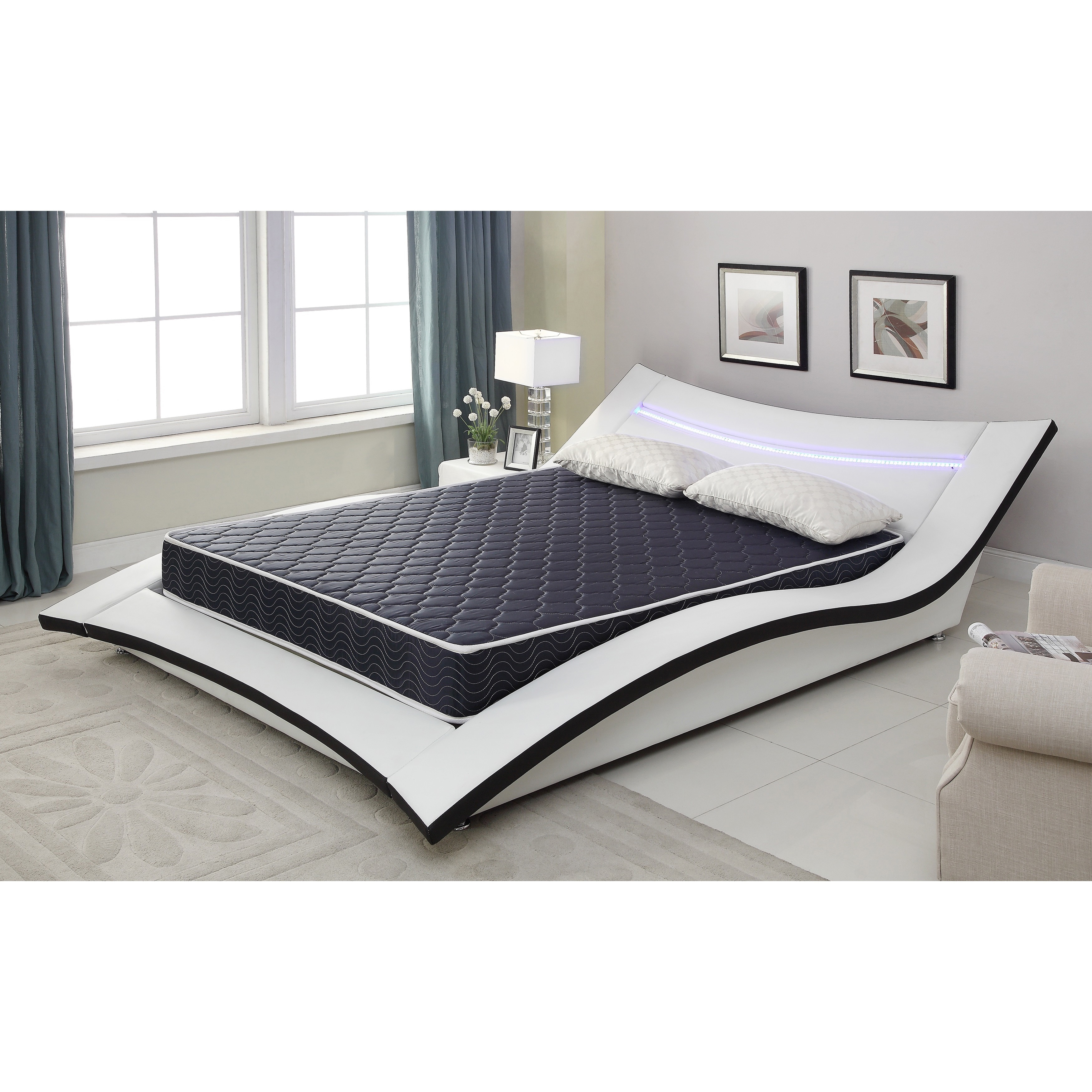 Full Bed Mattress 6 Inch Full Size Foam Mattress Covered In A Waterproof Fabric