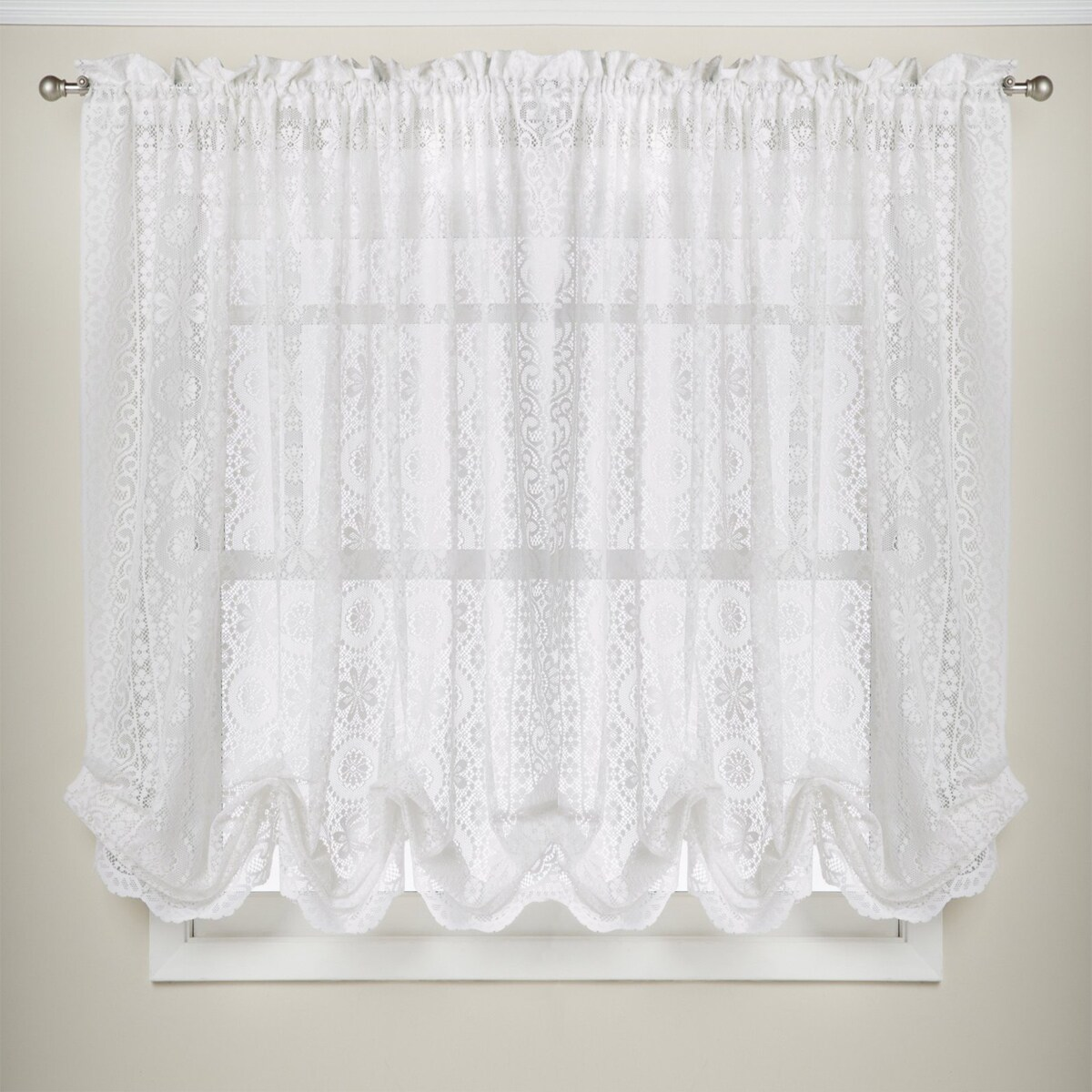 24 Inch Kitchen Curtains White Lace Luxurious Old World Style Kitchen Curtains Tiers Shade Or Valances