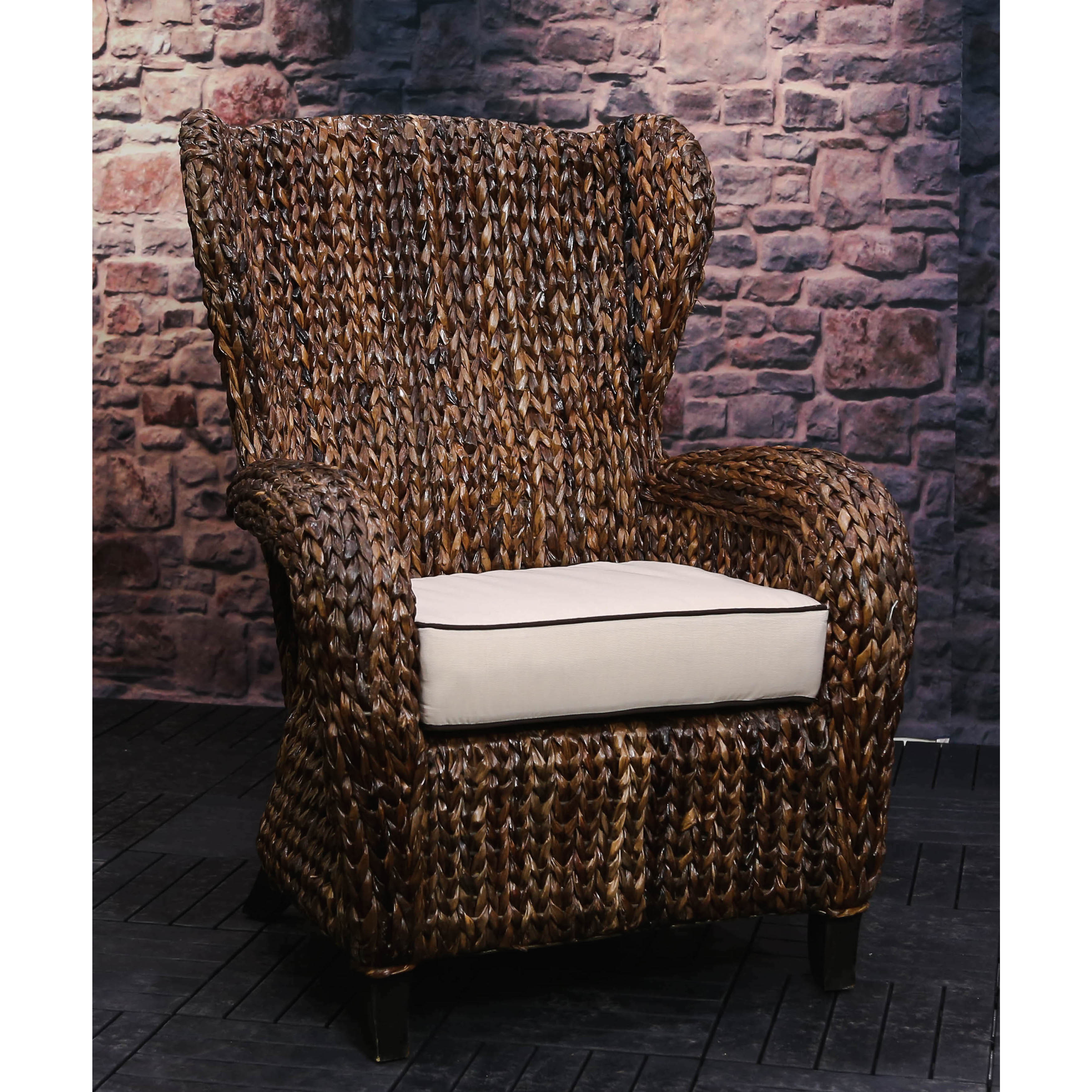 Rattan Lounge Chair Philippines Handmade Somette Rattan Indoor Outdoor Sloped Arm Wingback Club Chair Philippines